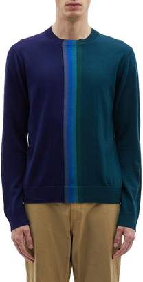 Paul Smith Stripe colourblock Merino wool sweater