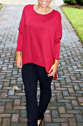Glam Solid Knit Tunic