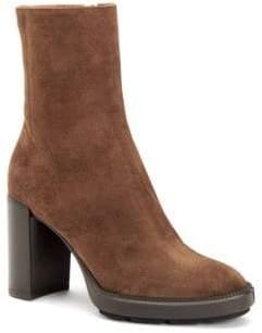 Aquatalia Isla Lug-Sole Suede Booties