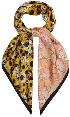 Richard Quinn Floral Print Silk Twill Scarf - Womens - Multi