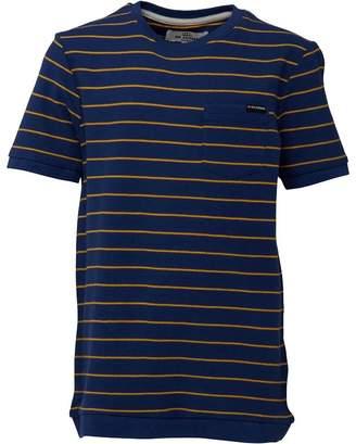Ben Sherman Boys Pique Stripe T-Shirt Blue Depths