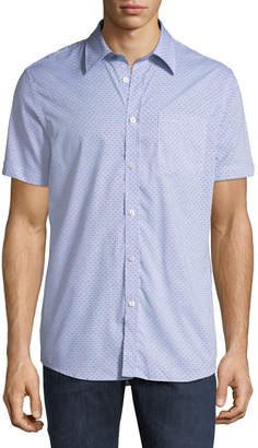 Ben Sherman Men's Printed End-On-End Short-Sleeve Sport Shirt