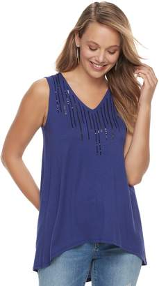 Apt. 9 Women's Embellished High-Low Tunic Tank