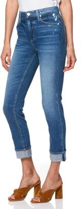 Paige Sarah High Waist Straight Slim Leg Jeans