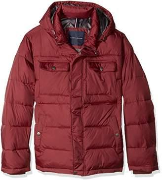 Tommy Hilfiger Men's Big Nylon Two Pocket Hooded Puffer Jacket