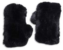 Surell Rabbit Fur Texting Gloves