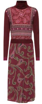 Etro Paisley wool-blend midi dress