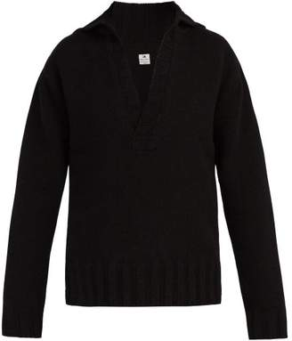 SASQUATCHfabrix. V Neck Wool Sweater - Mens - Black