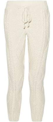 ADAM by Adam Lippes Cable-Knit Wool And Cashmere-Blend Tapered Pants