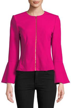 Calvin Klein Zip Bell Sleeve Jacket