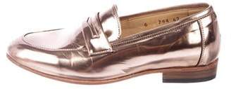 Dieppa Restrepo Metallic Round-Toe Loafers