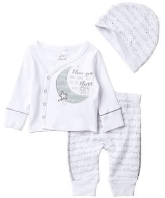 Baby Starters Stars Top, Pants & Hat Set (Baby Boys)
