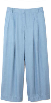 Tibi Cropped Pleat Pants