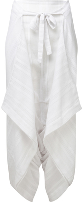 Lisa Marie Fernandez Layered Linen Pants $485 thestylecure.com