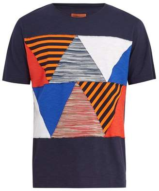 Missoni Mare - Multi Patch Cotton T Shirt - Mens - Blue Multi