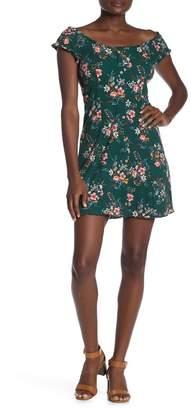 Luna Chix LUNACHIX Ruffle Trim Button Front Dress