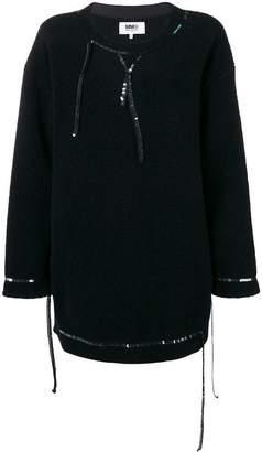 MM6 MAISON MARGIELA sequin embellished oversized sweater dress