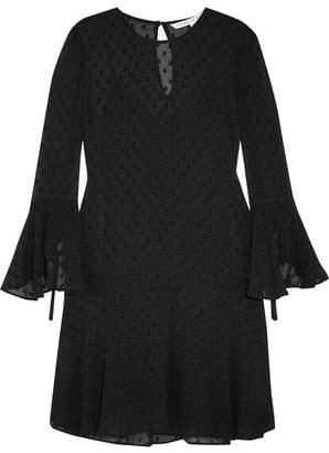 Veronica Beard Emerson Fil Coupé Silk-blend Chiffon Mini Dress - Black