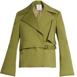 Rosie Assoulin Yipee Ki Yay Cotton Blend Twill Jacket - Womens - Khaki