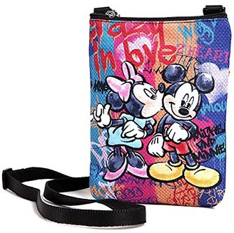 Disney Mickey Crossbody Bag Minnie Mickey Mouse Multi-pocket Shoulder Purse Phone Bag - Minnie Kiss $19.90 thestylecure.com