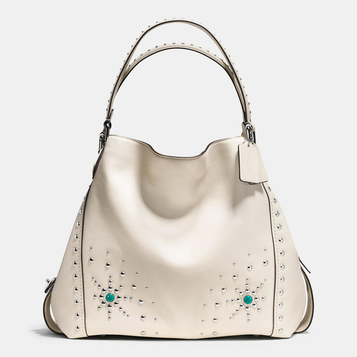 Coach   COACH Coach Western Rivets Edie Shoulder Bag 42 In Glovetanned Leather