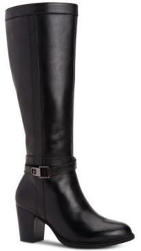 Giani Bernini Rozario Memory-Foam Wide-Calf Dress Boots, Created for Macy's Women's Shoes