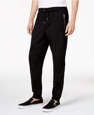 INC International Concepts I.N.C. Men's Moto Knit Jogger Pants, Created for Macy's