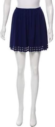 Susana Monaco Laser-Cut Mini Skirt