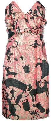 Vivienne Westwood printed pointy bandeau dress