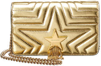 Stella McCartney Small Flap Metallic Shoulder Bag