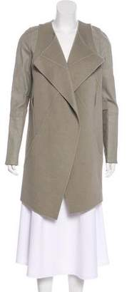 Kaufman Franco Kaufmanfranco Wool Leather-Trimmed Coat
