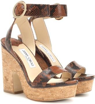 Jimmy Choo Aimee 125 leather platform sandals