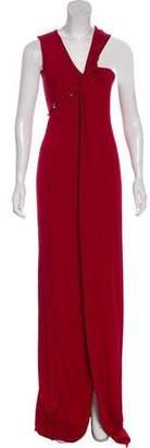 Thierry Mugler Asymmetric Carmin Dress