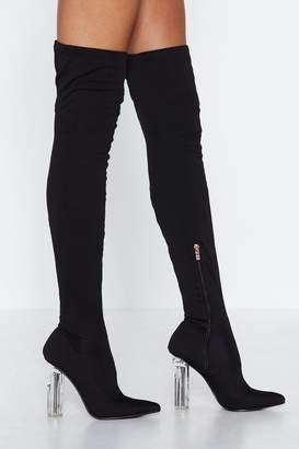 Nasty Gal Clear the Area Over-the-Knee Boot