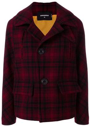 DSQUARED2 checked buttoned jacket
