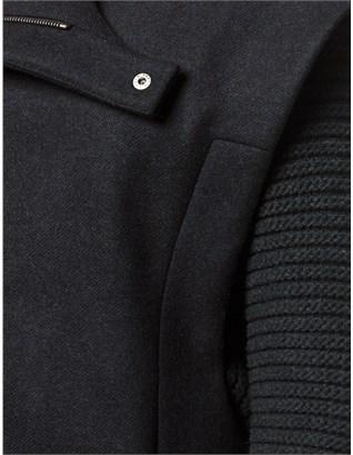 Chalayan Grey Wool Knit Sleeve Coat