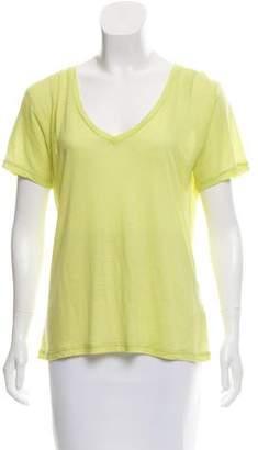 J Brand Short Sleeve Scoop Neck Top
