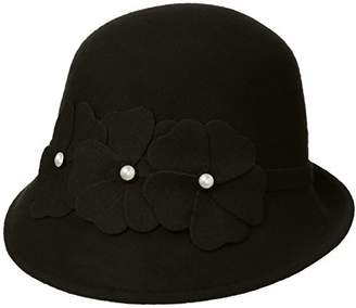 Collection XIIX Women's Pearl Flower Cloche Hat $42 thestylecure.com