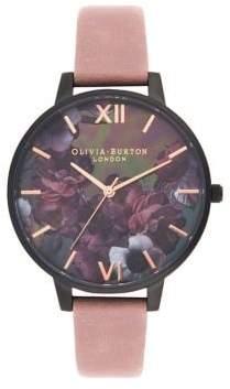 Olivia Burton After Dark Suede-Strap Watch