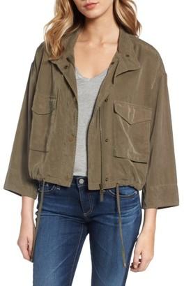 Women's Splendid Crop Military Jacket $158 thestylecure.com