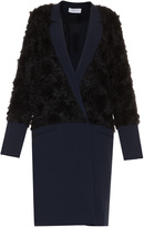 Derek Lam 10 Crosby Wrap Front Faux Fur Coat