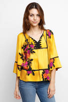 Plenty by Tracy Reese Floral Peasant Blouse