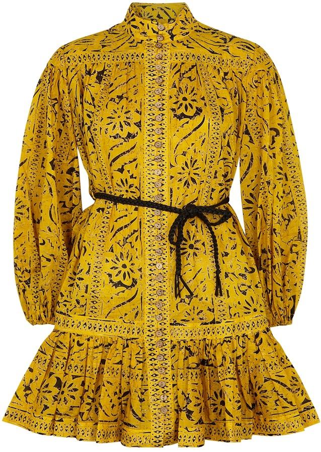 Zimmermann Lulu printed cotton mini dress