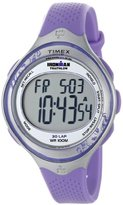Timex Women's T5K603 Ironman Clear View 30-Lap Amethyst/Silver-Tone Resin Strap Watch