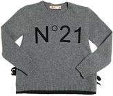 N°21 Flock Printed Wool Blend Sweater