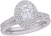 Stella Grace 14k White Gold 3/8 Carat T.W. Diamond & Lab-Created Moissanite Engagement Ring Set