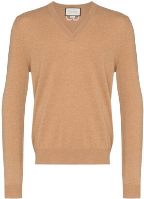 Gucci V-Neck Long-Sleeve Jumper