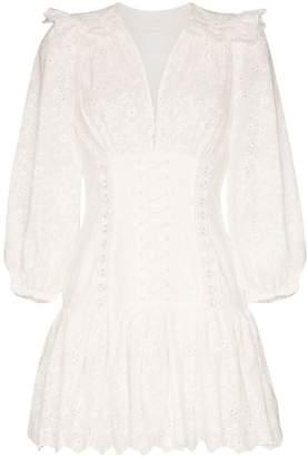Zimmermann lace corset mini dress