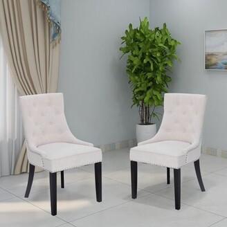 Alcott Hillâ® Charlack Tufted Linen Upholstered Parsons Chair Alcott HillA Upholstery Color: Beige