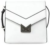 Mackage Yazmin Leather Accordion Crossbody Bag In White